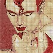 """Материалы для творчества ручной работы. Ярмарка Мастеров - ручная работа Набор для  вышивания бисером """"Он и она  """".Полная зашивка бисером.. Handmade."""