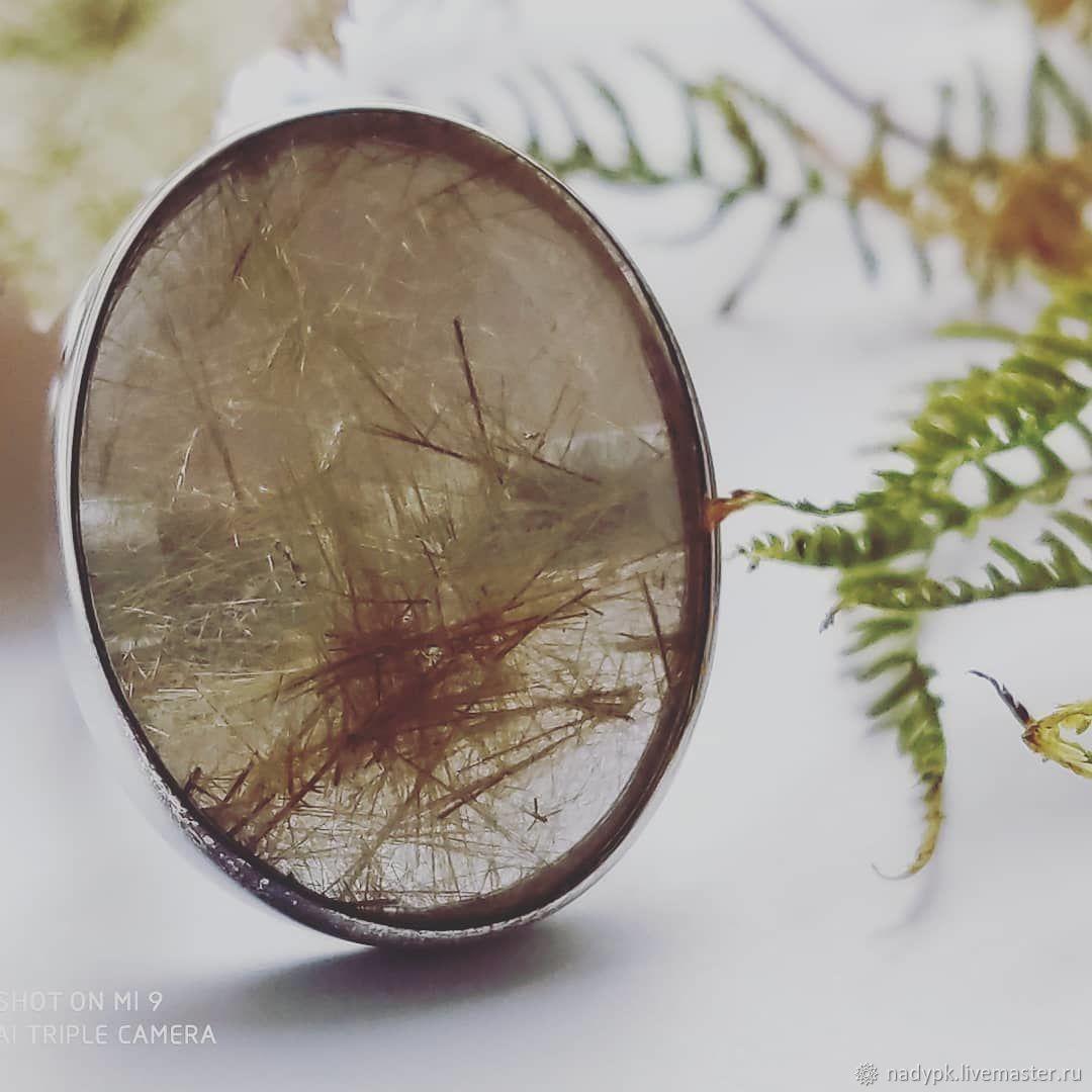 Anillo de cuarzo peludo babier verano, plata, Rings, Moscow,  Фото №1