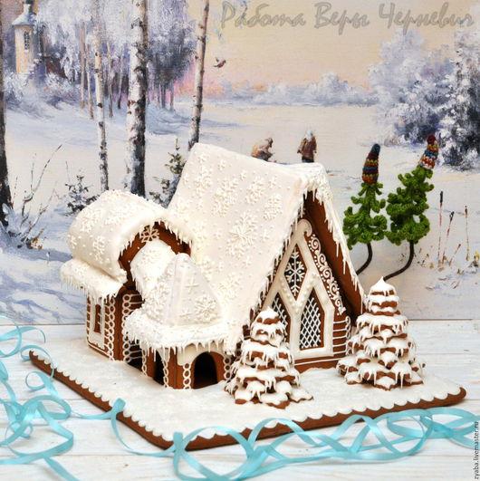 Кулинарные сувениры ручной работы. Ярмарка Мастеров - ручная работа. Купить Терем Деда Мороза - большой пряничный домик. Handmade.