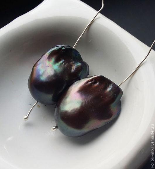 Для украшений ручной работы. Ярмарка Мастеров - ручная работа. Купить безупречная пара барочных жемчужин касуми черный. Handmade.