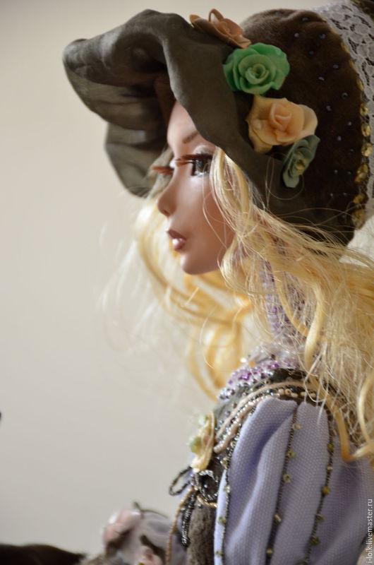 """Коллекционные куклы ручной работы. Ярмарка Мастеров - ручная работа. Купить """"Ирис"""" Коллекционная интерьерная  кукла авто. Handmade. Сиреневый"""