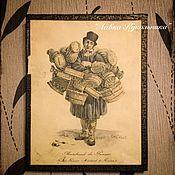 Винтаж ручной работы. Ярмарка Мастеров - ручная работа Старинные гравюры. Handmade.