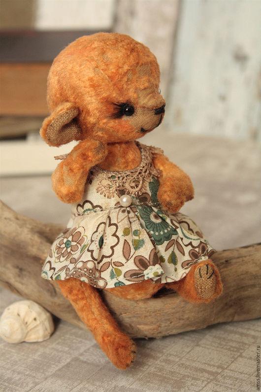 Мишки Тедди ручной работы. Ярмарка Мастеров - ручная работа. Купить Мишка тедди Диля. Handmade. Рыжий, состаренный мишка
