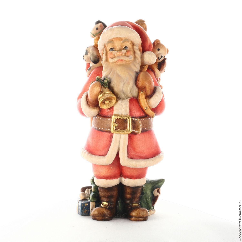 """Новый год 2019 ручной работы. Ярмарка Мастеров - ручная работа. Купить Эксклюзивная деревянная статуэтка """"Санта Клаус"""". Handmade."""