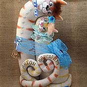 Мягкие игрушки ручной работы. Ярмарка Мастеров - ручная работа Коты неразлучники льняные. Handmade.
