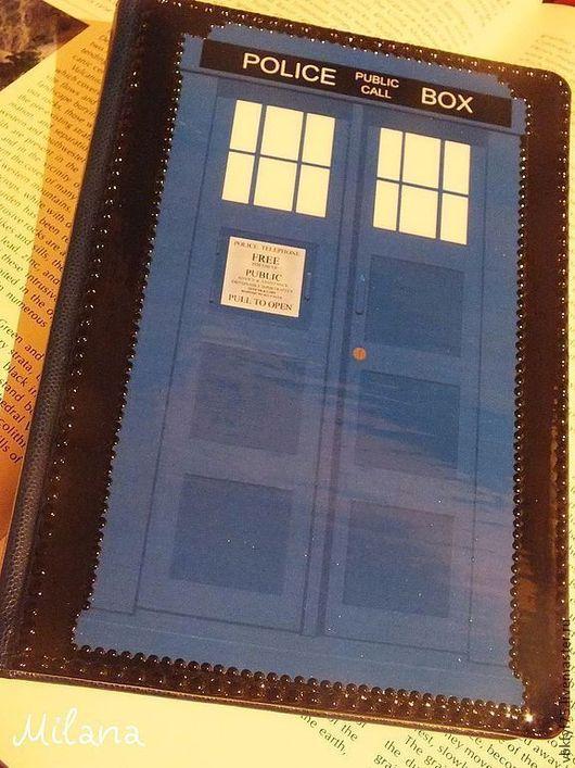 тардис, Доктор Кто, подарок поклоннику Доктора, ежедневник декупаж, ежедневник с Тардис, подарок хувиану, ежедневник в подарок, ежедневник декупаж, синий ежедневник