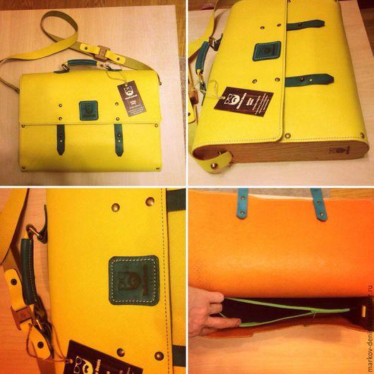 Женские сумки ручной работы. Ярмарка Мастеров - ручная работа. Купить Сумка-портфель. Handmade. Комбинированный, натуральная кожа