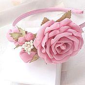 handmade. Livemaster - original item Headband roses chiffon