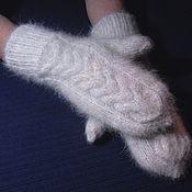 Аксессуары handmade. Livemaster - original item Women`s double knitted mittens. Handmade.