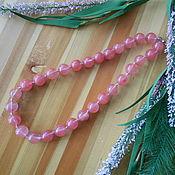 Колье ручной работы. Ярмарка Мастеров - ручная работа Бусы из розового кварца. Handmade.