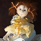 Куклы и игрушки ручной работы. Ярмарка Мастеров - ручная работа АНГЕЛОЧЕК (в желтом платьице)  (20). Handmade.