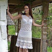 Одежда handmade. Livemaster - original item Crochet boho dress