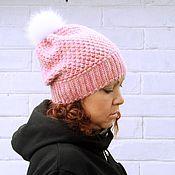 Аксессуары ручной работы. Ярмарка Мастеров - ручная работа Шапка Pink меринос/ручное окрашивание. Handmade.