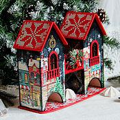 """Подарки к праздникам ручной работы. Ярмарка Мастеров - ручная работа Чайный домик """"Ночь перед рождеством"""". Handmade."""