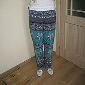Одежда ручной работы. Ярмарка Мастеров - ручная работа брюки из штапеля. Handmade.