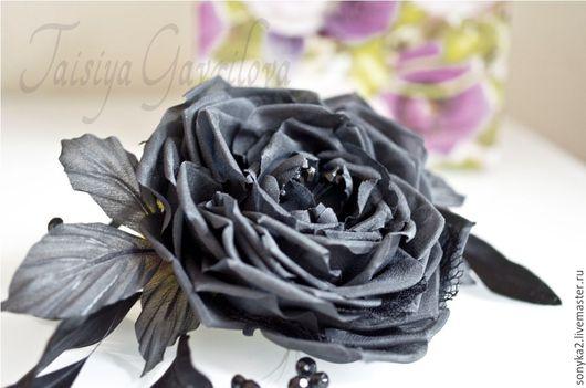 """Цветы ручной работы. Ярмарка Мастеров - ручная работа. Купить Роза """"Смок"""". Handmade. Черные розы, шелковые цветы"""
