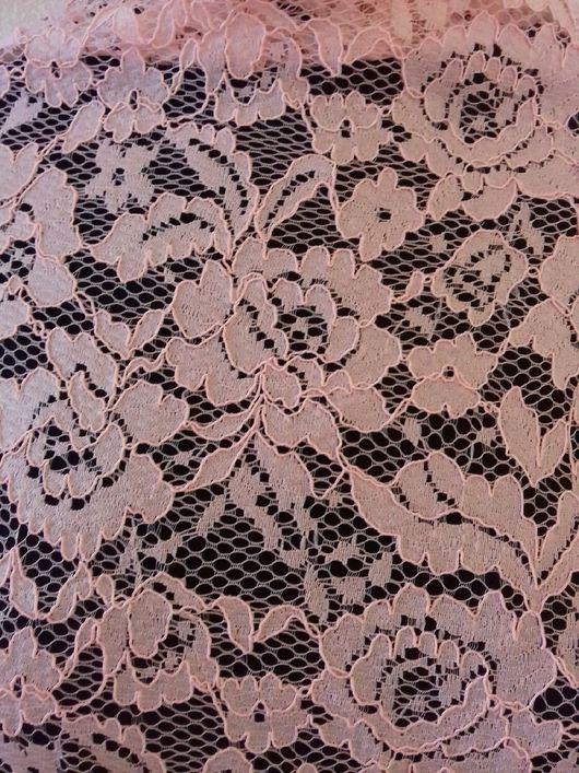 Шитье ручной работы. Ярмарка Мастеров - ручная работа. Купить Ткань кружевное полотно хлопок розовый. Handmade. Бледно-розовый