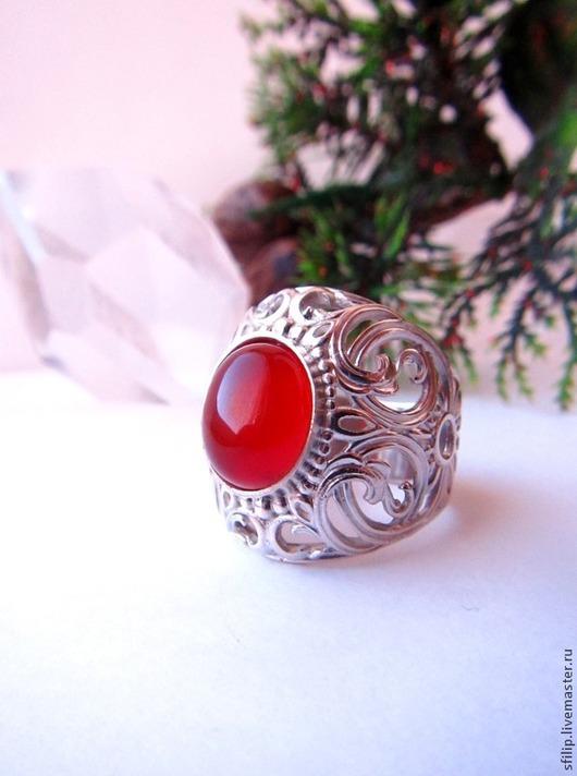"""Кольца ручной работы. Ярмарка Мастеров - ручная работа. Купить Кольцо """"Солнечное"""" -сердолик ,серебро 925. Handmade. Кольцо с камнем"""