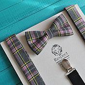 Аксессуары handmade. Livemaster - original item Tie grey plaid suspenders are the Pride of Ireland. Handmade.