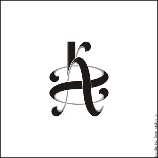 Логотип-монограмма именная К.А.Г.