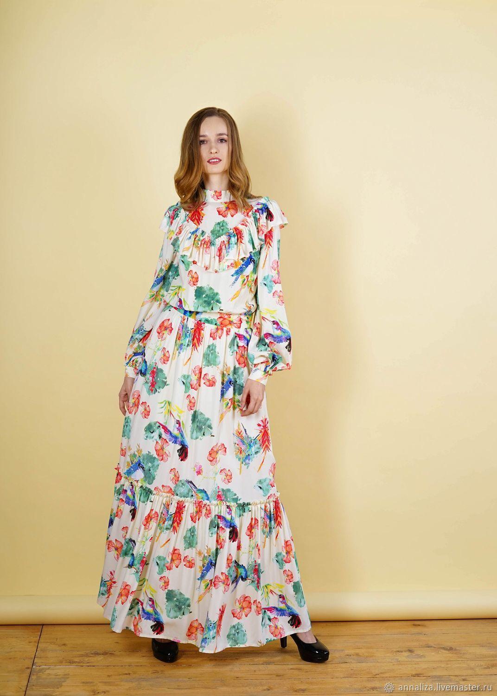 """Платье в винтажном стиле """"Райские птицы"""", Платья, Москва,  Фото №1"""
