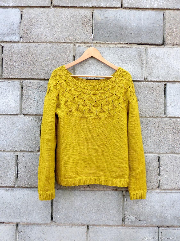 Pullover knitted women's woolen patterned Merino, Pullover Sweaters, Kazan,  Фото №1
