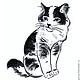 Животные ручной работы. Картина Котята рисунок углем графика кошки черно-белый. Юлия Рустамьян. Интернет-магазин Ярмарка Мастеров.
