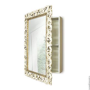 Для дома и интерьера ручной работы. Ярмарка Мастеров - ручная работа Зеркальный шкаф для ванной комнаты. Handmade.