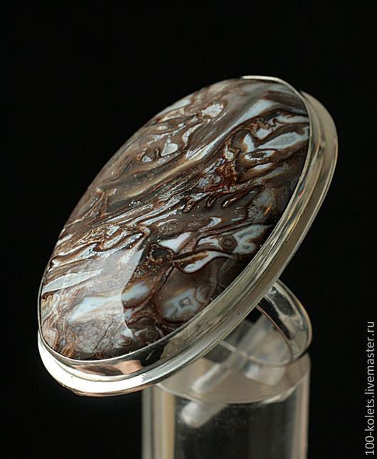 Кольца ручной работы. Ярмарка Мастеров - ручная работа. Купить Кольцо с коричневым агатом. Handmade. Коричневый, натуральные камни