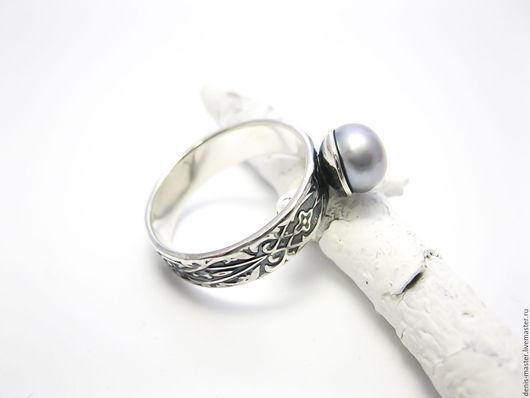 """Кольца ручной работы. Ярмарка Мастеров - ручная работа. Купить серебряное кольцо """"единственное"""" (серебро, жемчуг нат.). Handmade."""