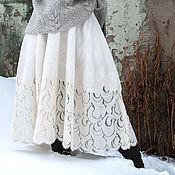 Одежда handmade. Livemaster - original item Felted skirt frost. Handmade.