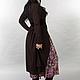 Платья ручной работы. Vacanze Romane-1042. deRvoed Lena. Ярмарка Мастеров. Дизайнерская одежда, шоколадный цвет