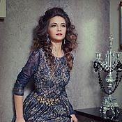 Одежда ручной работы. Ярмарка Мастеров - ручная работа Вечернее платье с длинным рукавом. Handmade.