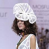 """Одежда ручной работы. Ярмарка Мастеров - ручная работа """"Ромашка"""" шляпка и накидка валяная. Handmade."""