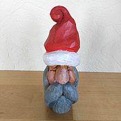 Куклы и игрушки handmade. Livemaster - original item Christmas tree toy wood carved figurine miniature Santa. Handmade.
