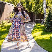 Одежда handmade. Livemaster - original item Boho viscose Dress with a spectacular print. Handmade.