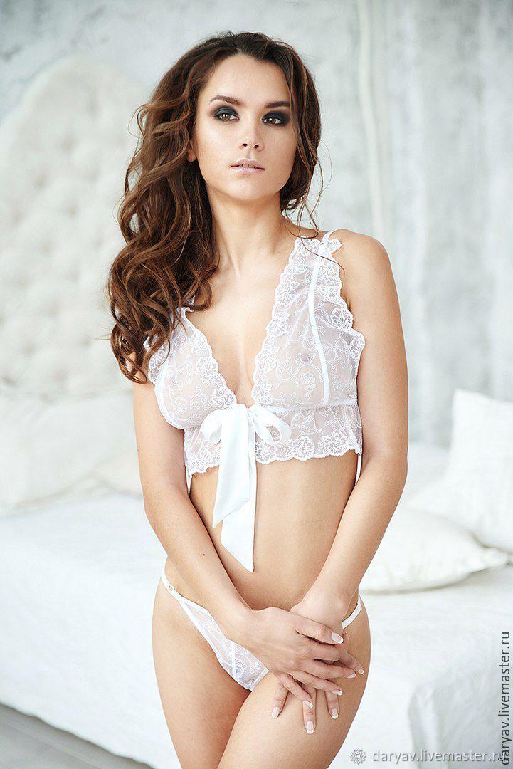 b5bba0546ec Underwear   Pajamas handmade. Order White lace lingerie set. Darya Vecher  Wedding   Resort ...