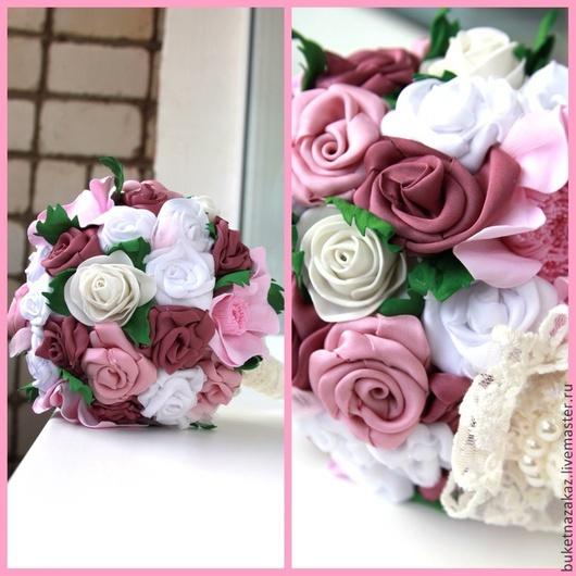 Свадебные цветы ручной работы. Ярмарка Мастеров - ручная работа. Купить Розовая сказка. Handmade. Розовый, фом, букет невесты