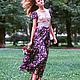 Платья ручной работы. Платье для летнего отдыха  «Екатерина». Марта Дарц Юрьева. Интернет-магазин Ярмарка Мастеров. Дизайнерская одежда