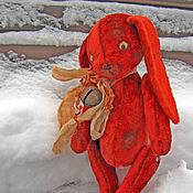 Куклы и игрушки ручной работы. Ярмарка Мастеров - ручная работа Заяц с бубенчиком. Handmade.