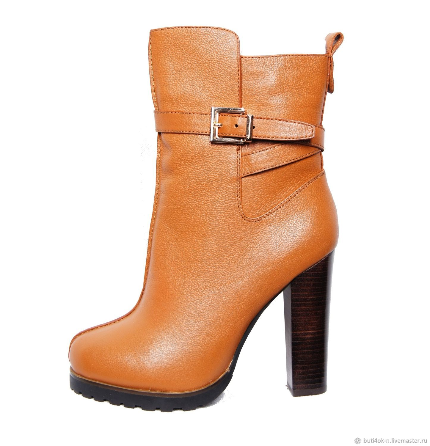 Size 38, 39. Light brown winter boots from nature.skins, High Boots, Nelidovo,  Фото №1
