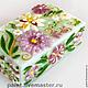 Trinket Boxes handmade. Livemaster - handmade. Buy Box Harmony-fusing.Interior, glass casket, pink