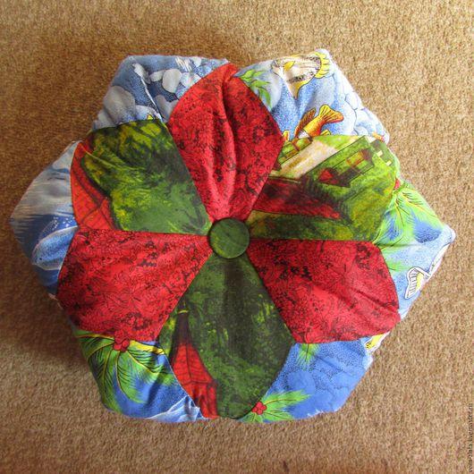 Текстиль, ковры ручной работы. Ярмарка Мастеров - ручная работа. Купить Подушка. Handmade. Комбинированный, подушка интерьерная, подушка из лоскутов