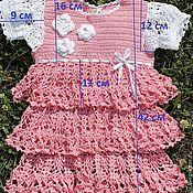 Одежда ручной работы. Ярмарка Мастеров - ручная работа Детское платье крючком. Handmade.
