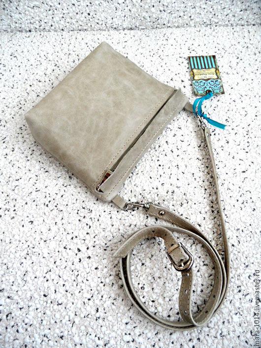 Женские сумки ручной работы. Ярмарка Мастеров - ручная работа. Купить КАПУЧИНО, сумочка карман на длином ремешке. Handmade. Бежевый