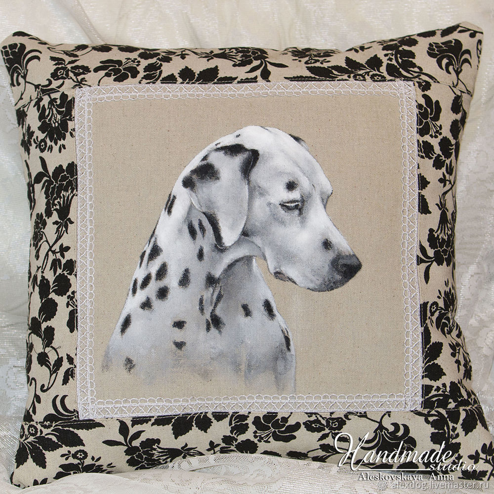 Decorative pillow - 'Dalmatian', Pillow, Moscow,  Фото №1