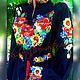 """Блузки ручной работы. Ярмарка Мастеров - ручная работа. Купить Блуза """"Цветочное эхо"""". Handmade. Маки, цветочный, васильки"""