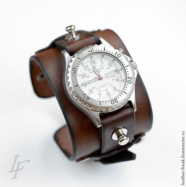 Кожаные ремни для часов на заказ ремни женские с клепками