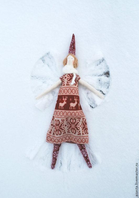Куклы Тильды ручной работы. Ярмарка Мастеров - ручная работа. Купить Кукла текстильная Тильда Пикси. Handmade. Новый Год