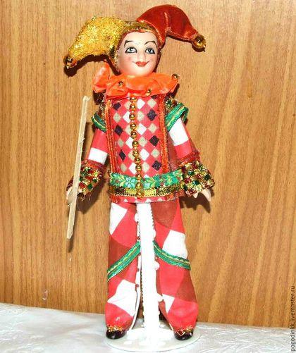 Коллекционные куклы ручной работы. Арлекин - фарфоровая кукла 20-22 см. Куклы и Украшения IRINA PO. Интернет-магазин Ярмарка Мастеров.